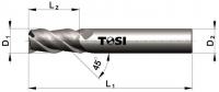 Фреза концевая с радиусом при вершине угла  из быстрорежущей стали для обработки алюминия SN005.***R