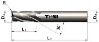 Фреза концевая с радиусом при вершине угла из быстрорежущей стали SN014.***R