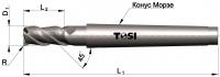 Фреза концевая с радиусом при вершине угла  из быстрорежущей стали SN025.***R