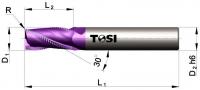 Фреза концевая с радиусом при вершине угла  из твердого сплава черновая МN074.***R