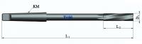 Развертка машинная впайная с цельной твердосплавной головкой хвостовик конус Морзе (спиральная канавка)
