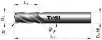 Фреза концевая с радиусом при вершине угла из твердого сплава для обработки алюминия MN052.***R