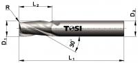 Фреза концевая с радиусом при вершине угла из быстрорежущей стали SN006.***R