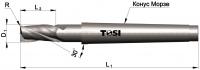 Фреза концевая с радиусом при вершине угла из быстрорежущей стали SN022.***R