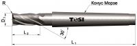 Фреза концевая с радиусом при вершине угла из быстрорежущей стали SN030.***R