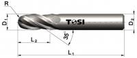 Фреза сферическая из быстрорежущей стали SN203