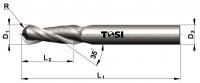 Фреза сферическая из быстрорежущей стали для обработки алюминия SN204