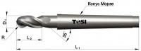 Фреза сферическая из быстрорежущей стали для обработки алюминия SN215