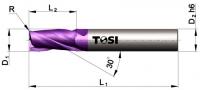 Фреза концевая с радиусом при вершине угла из твердого сплава МN044.***R